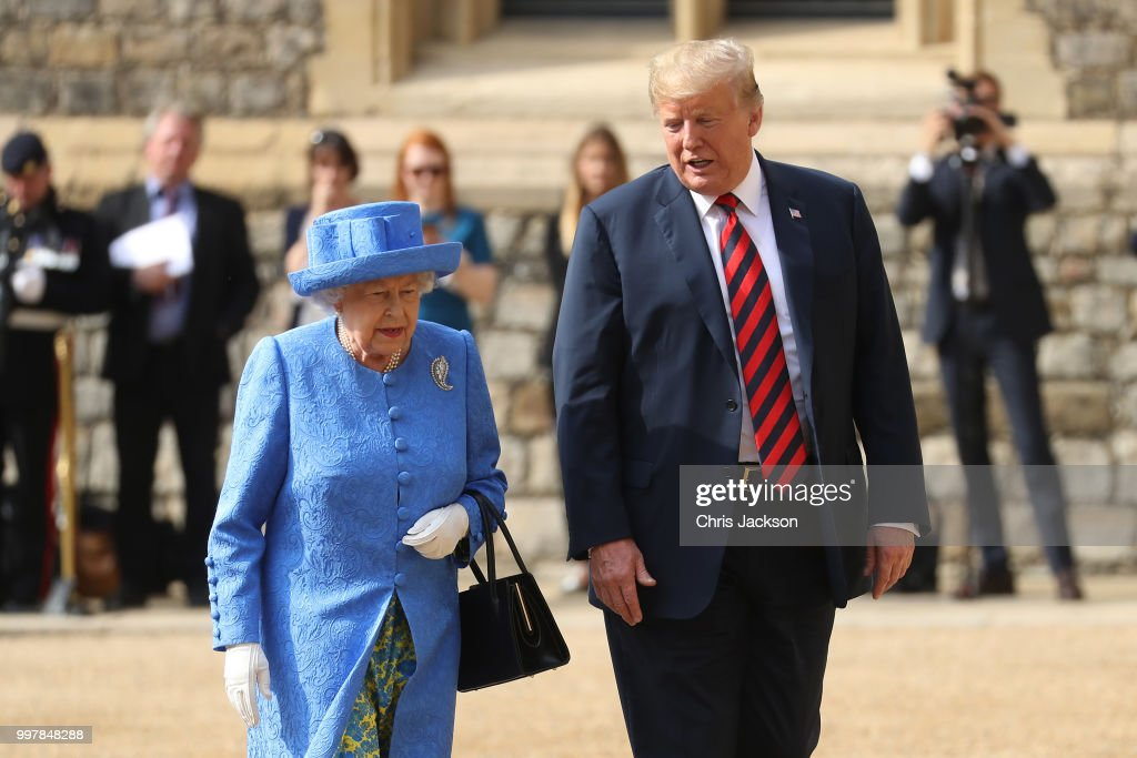 The President Of The United States And Mrs Trump Meet HM Queen : News Photo