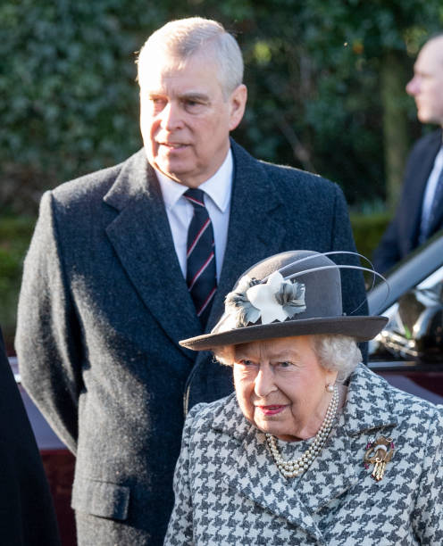 GBR: The Queen Attends Church At Hillington In Sandringham