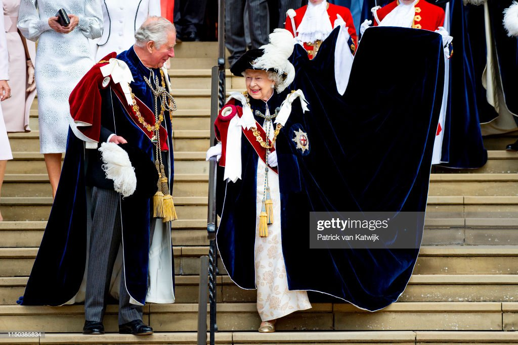Order Of The Garter Service At Windsor Castle : News Photo