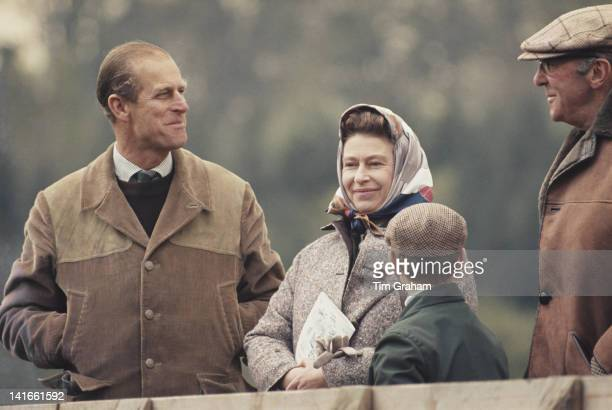 Queen Elizabeth II and Prince Philip at the Royal Windsor Horse Show, 10th April 1976.