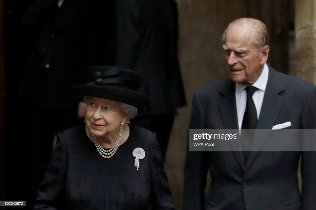 Funeral Of The Countess Mountbatten Of Burma : News Photo