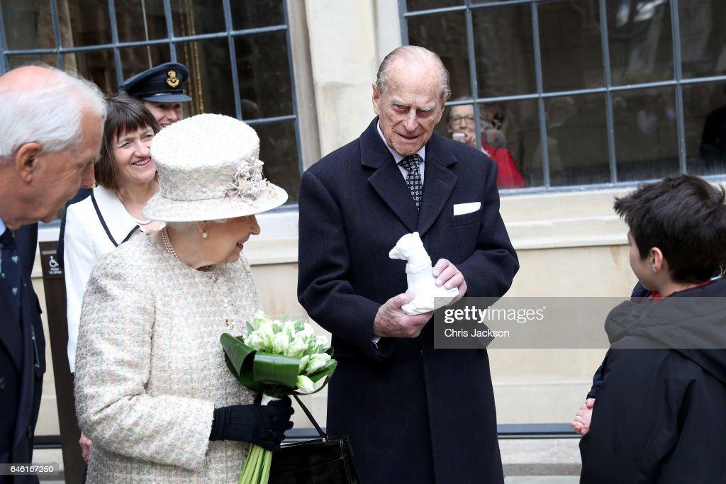 The Queen And Duke Of Edinburgh Open A New Development At The Charterhouse : News Photo