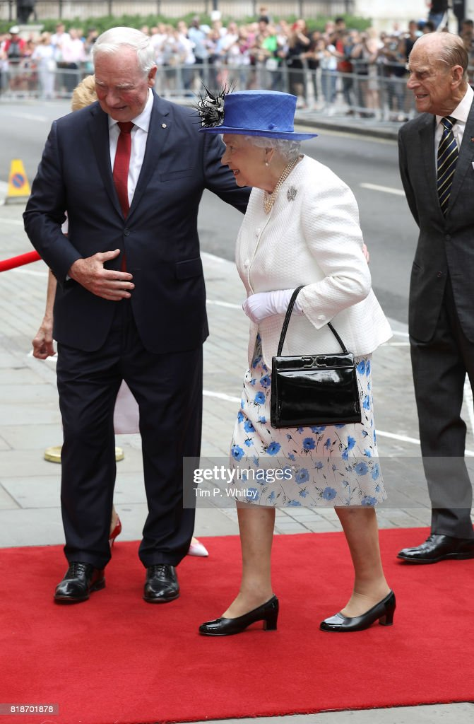 The Queen And Duke Of Edinburgh Visits Canada House