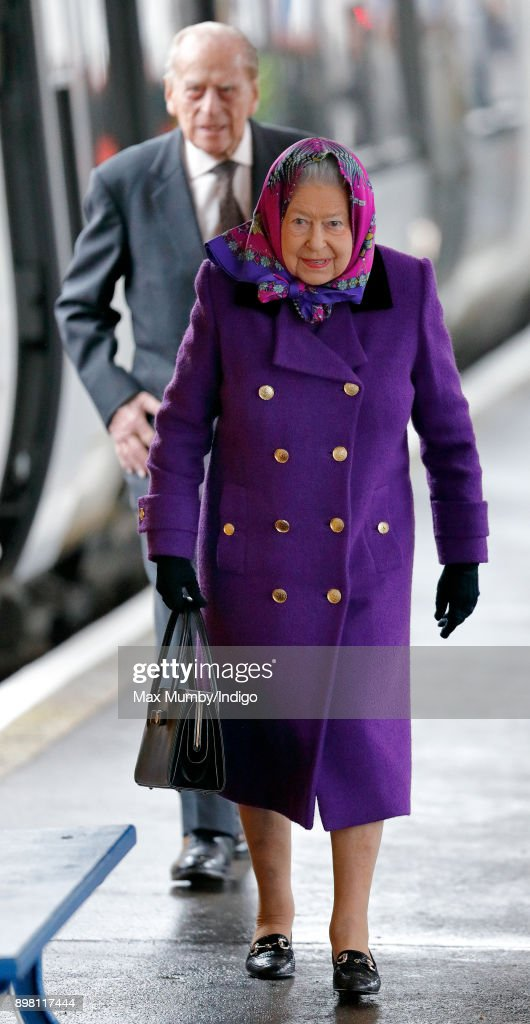 Queen Elizabeth II Arrives At King's Lynn Station
