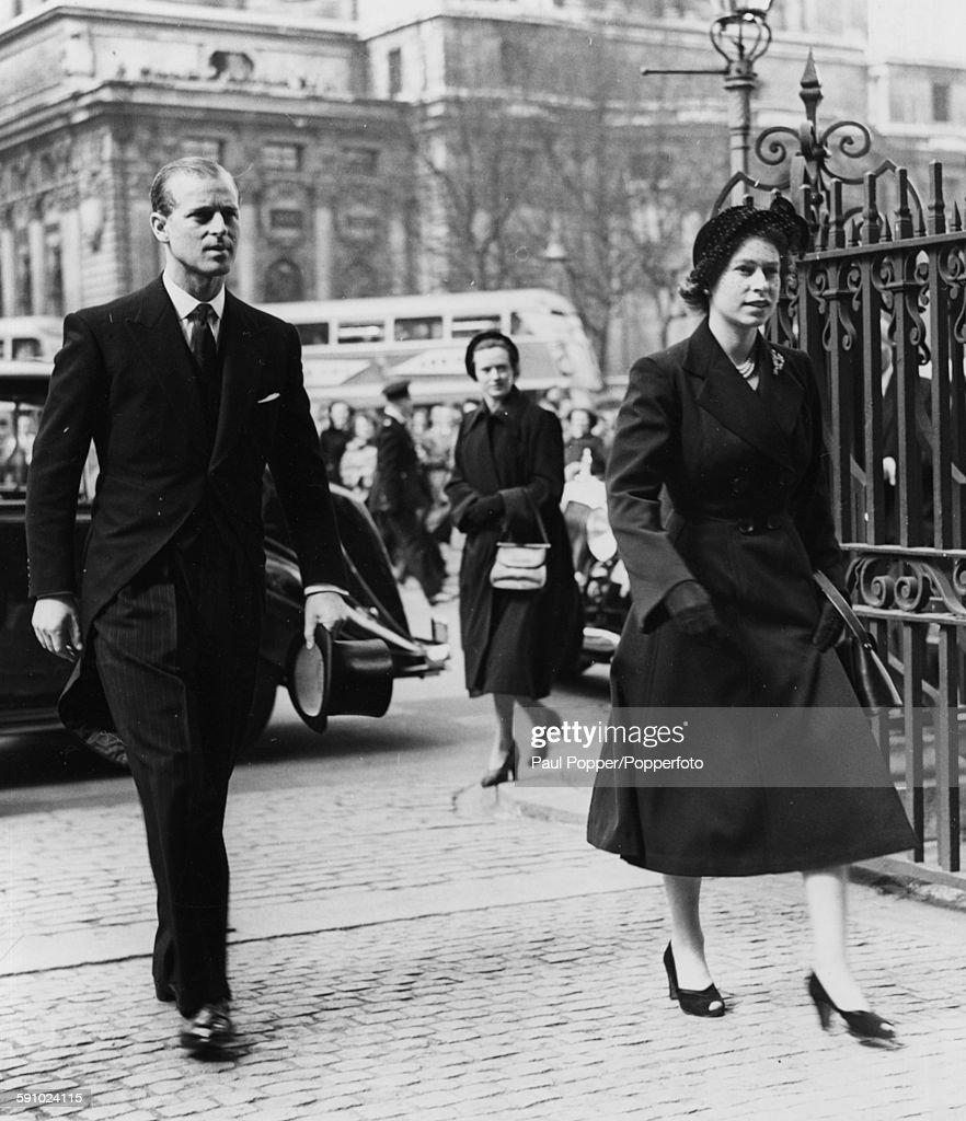 Queen Elizabeth II And Prince Philip : News Photo