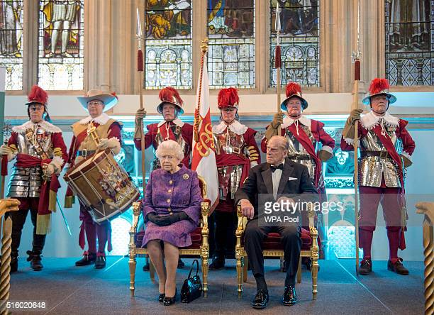 Queen Elizabeth II and Prince Philip Duke of Edinburgh at during a reception for the High Commissioners' Banquet to mark Commonwealth Week at the...