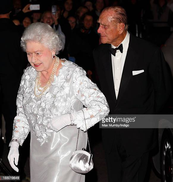 Queen Elizabeth II and Prince Philip, Duke of Edinburgh attend a gala performance of 'Our Extraordinary World' at The Royal Opera House on October...