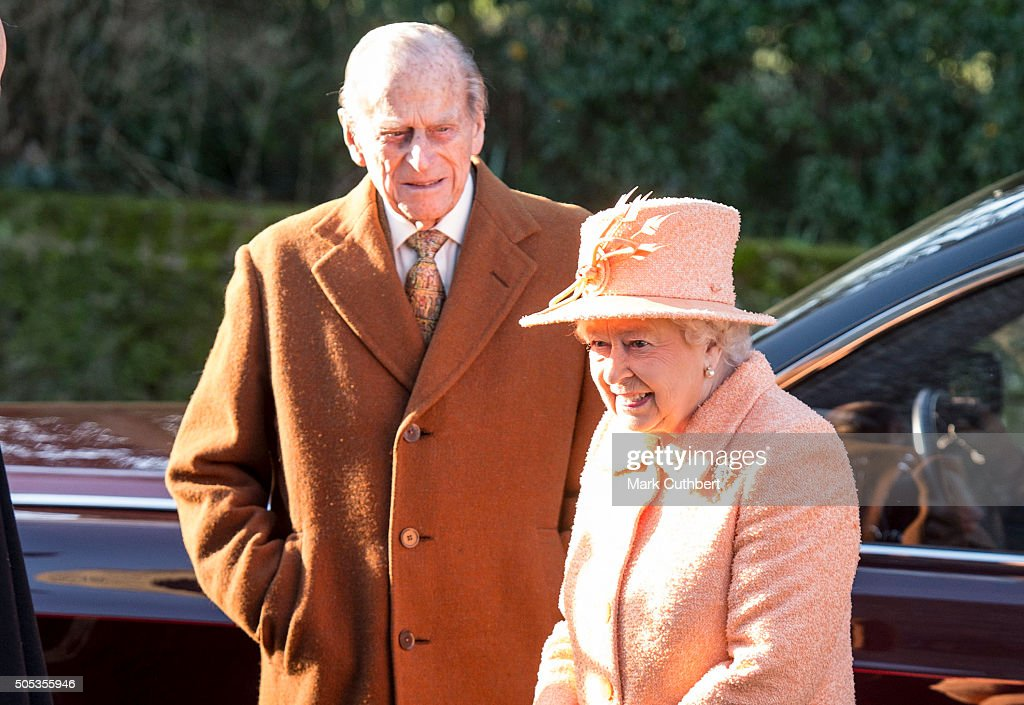 The Queen Attends Church At Hillington : News Photo
