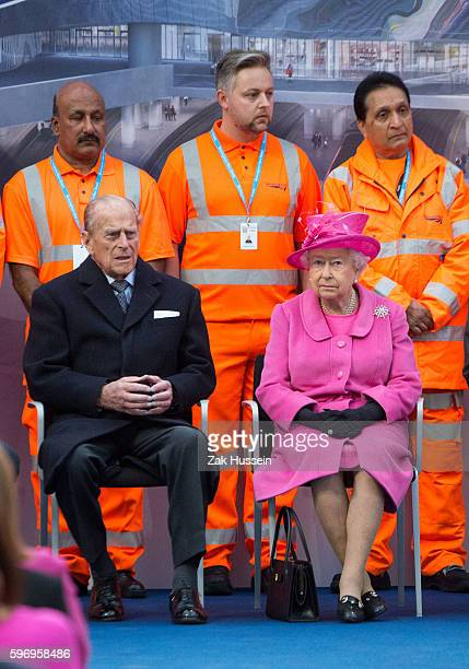 Queen Elizabeth II and Prince Philip Duke of Edinburgh attend the official opening of the refurbished Birmingham New Street Station