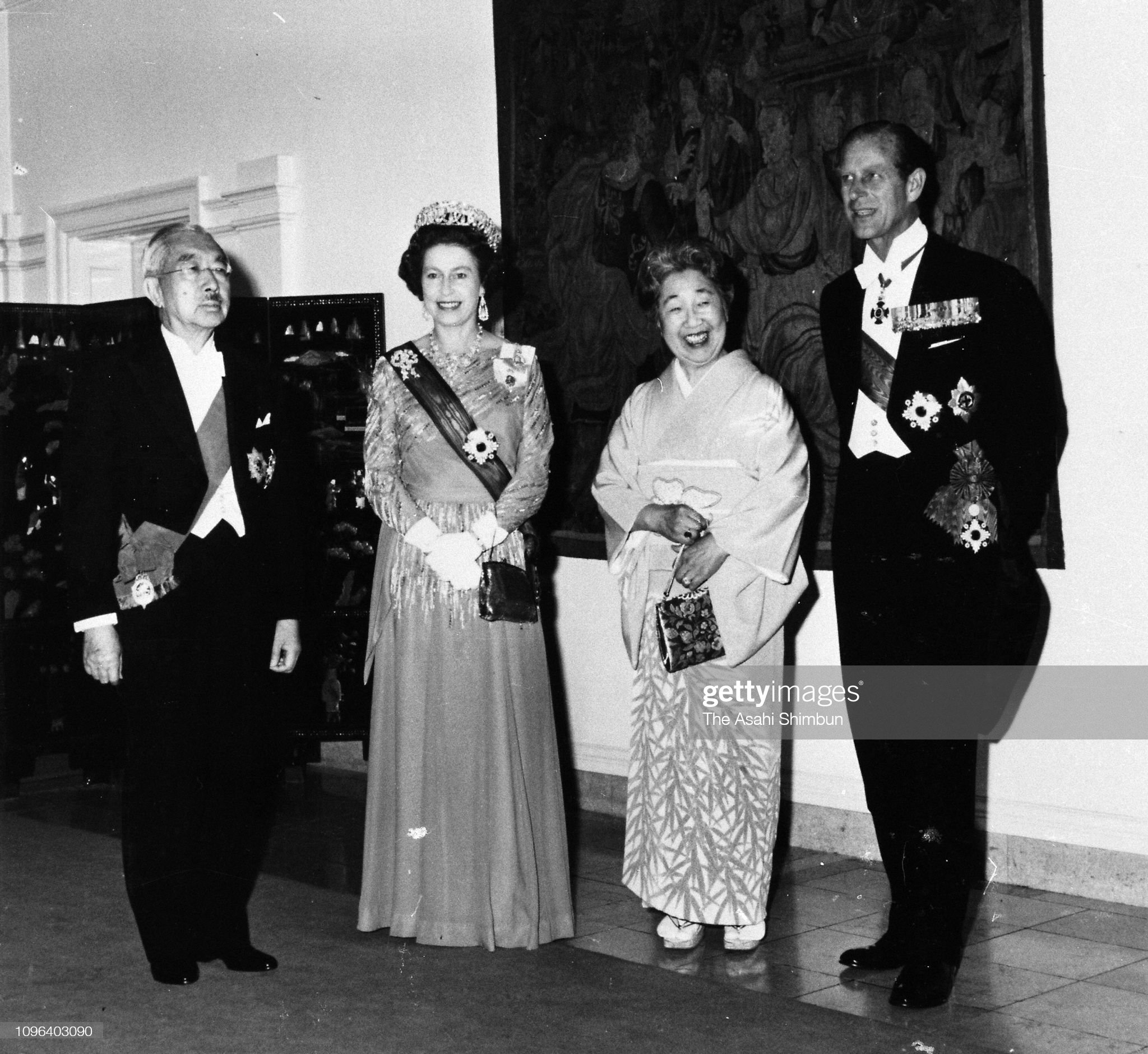 Queen Elizabeth II Visits Japan : News Photo