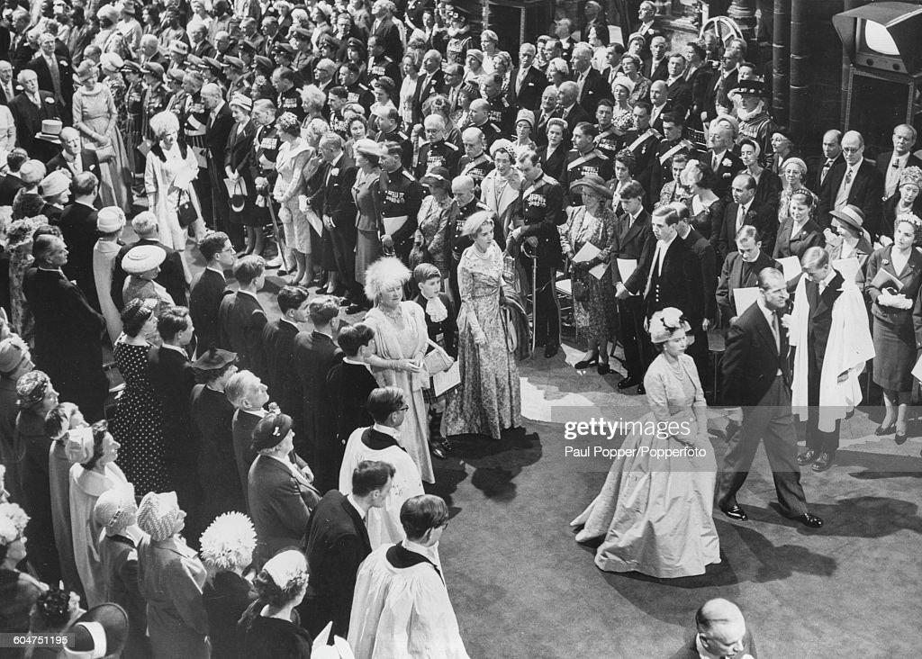 Queen Elizabeth II At Royal Wedding : News Photo