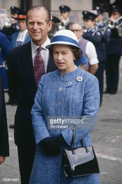 Queen Elizabeth II and Prince Philip Duke of Edinburgh in Zurich an official fourday visit to Switzerland 29th April 1980