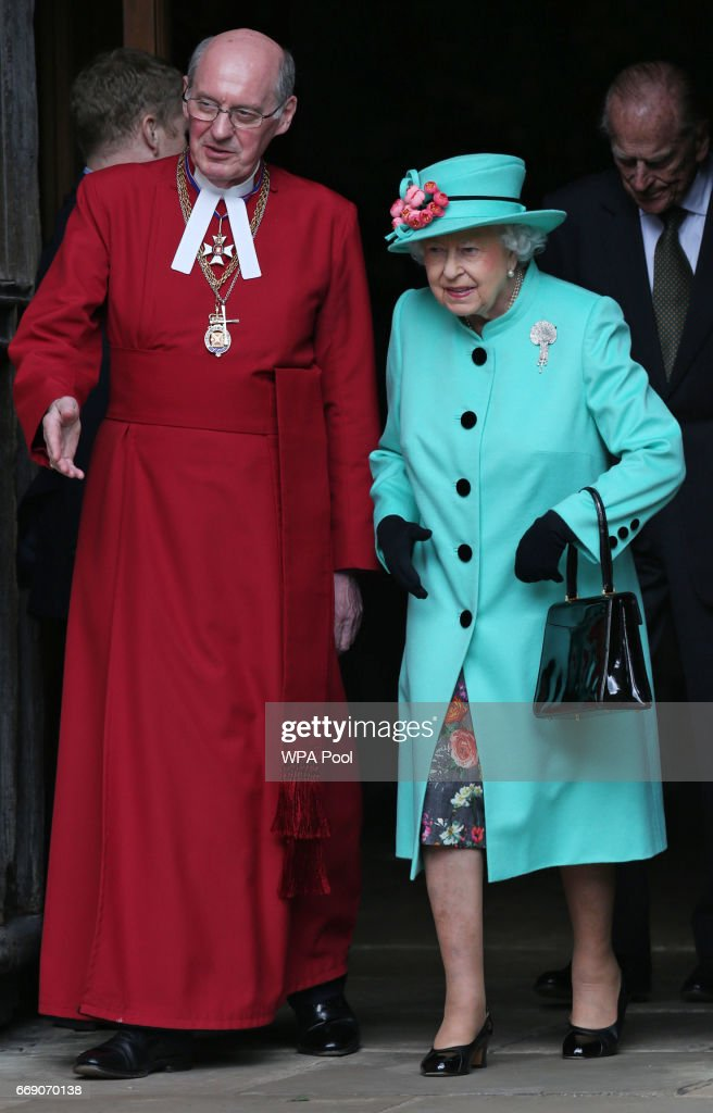 Royals at Easter Sunday church service : News Photo