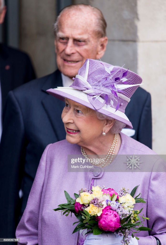 The Queen & Duke Of Edinburgh Attend Evensong In Celebration Of The Centenary Of The Order Of The Companions Of Honour : News Photo