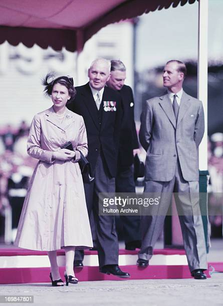 Queen Elizabeth II and Prince Philip Duke of Edinburgh on a guided tour of Tasmania whilst on their Commonwealth Visit to Australia 1954