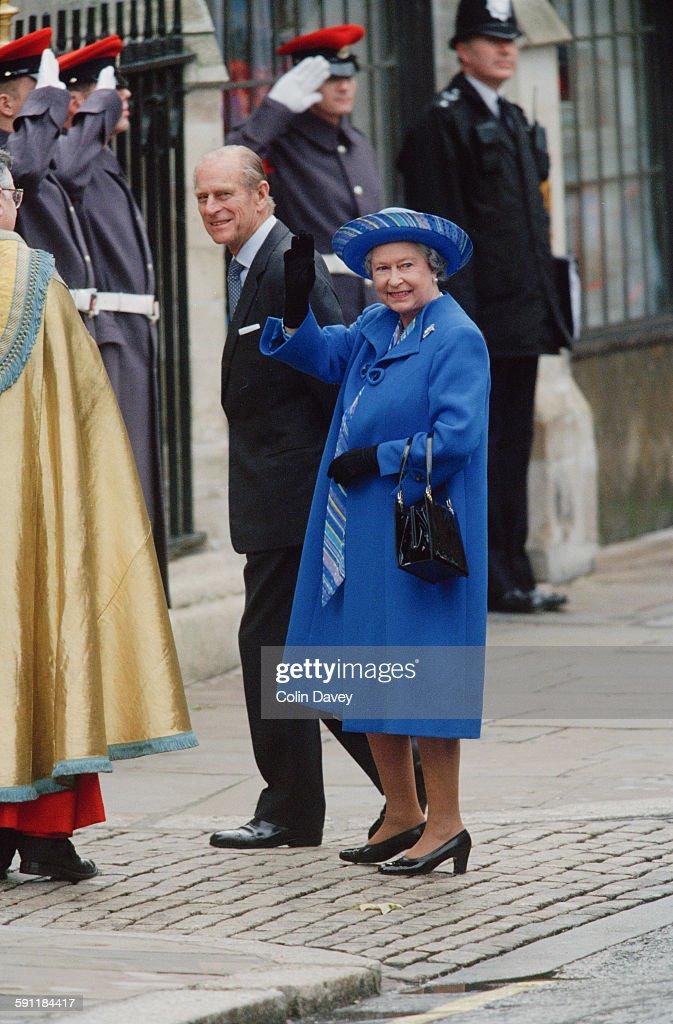 Queen's Wedding Anniversary : News Photo