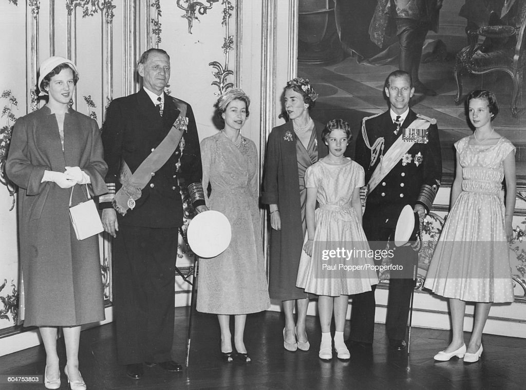 Queen Elizabeth II And Danish Royal Family : News Photo