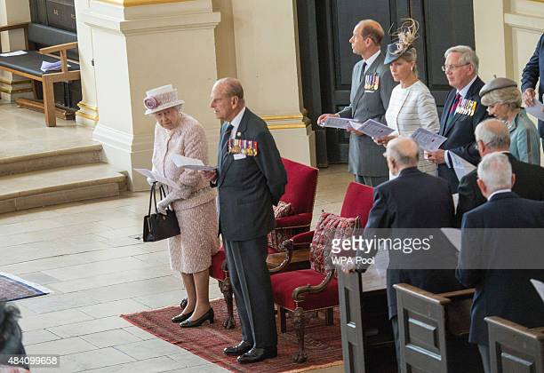 Queen Elizabeth II and Prince Philip Duke of Edinburgh Prince Edward Earl of Wessex Sophie Countess of Wessex Prince Richard Duke of Gloucester and...