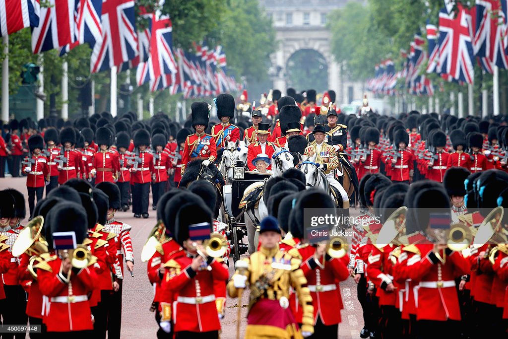 Queen Elizabeth II's Birthday Parade: Trooping The Colour : News Photo