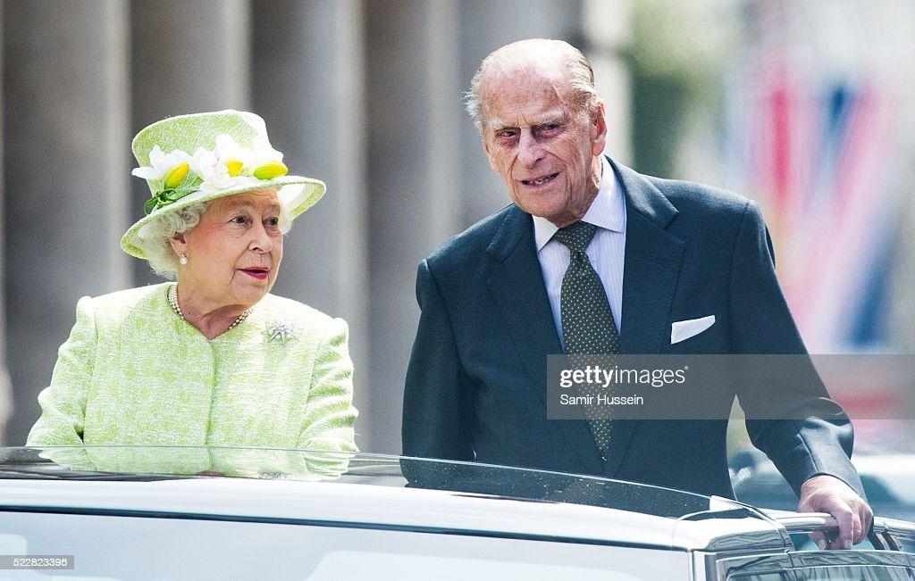 The Queen & Duke Of Edinburgh Carry Out Engagements In Windsor On Her Majesty's 90th Birthday : News Photo