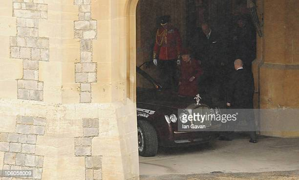 Queen Elizabeth II and Prince Philip Duke of Edinburgh set off to greet His Highness The Emir of the State of Qatar Sheikh Hamad bin Khalifa AlThani...