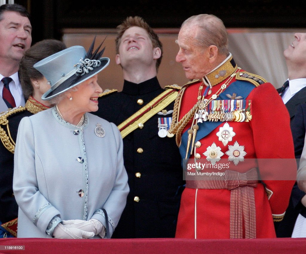 Queen Elizabeth II and Prince Philip, Duke of Edinburgh stand on the balcony of Buckingham Palace after the Trooping the Colour Parade on June 11, 2011 in London, England. The ceremony of Trooping the Colour is believed to have first been performed during the reign of King Charles II. In 1748, it was decided that the parade would be used to mark the official birthday of the Sovereign. More than 600 guardsmen and cavalry make up the parade, a celebration of the Sovereign's official birthday, although the Queen's actual birthday is on 21 April.