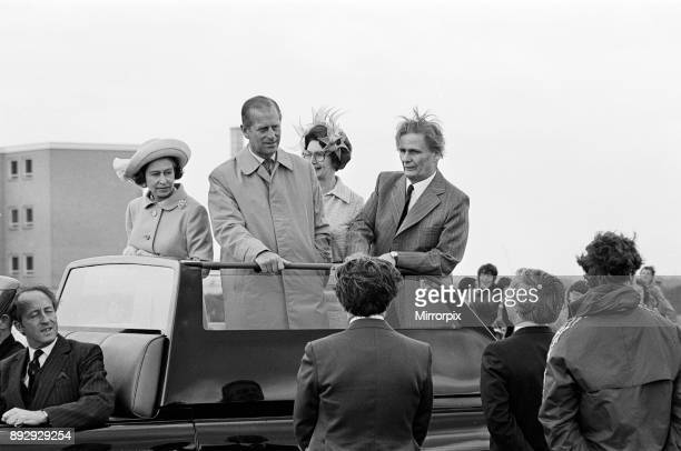 Queen Elizabeth II and Prince Philip Duke of Edinburgh visit Prissick Base during the Silver Jubilee tour 14th July 1977