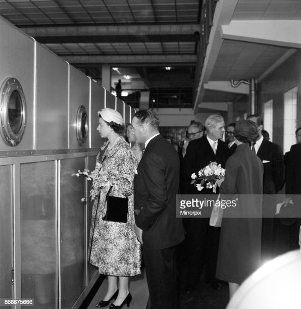 Queen Elizabeth II and Prince Philip Duke of Edinburgh visit to Denmark Pictured during their tour of the Carlsberg Breweries 22nd May 1957