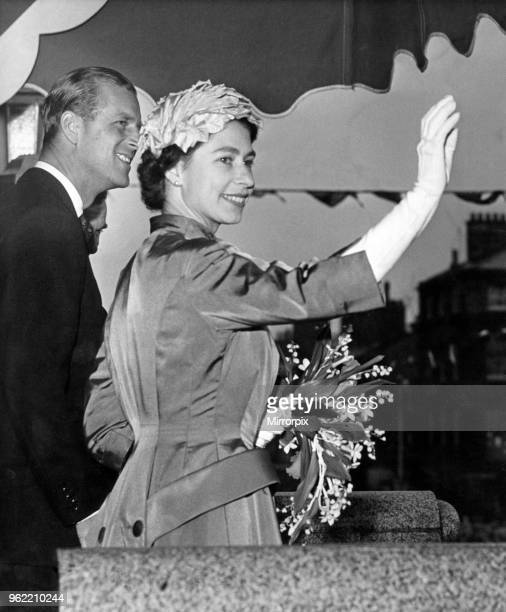Queen Elizabeth II and Prince Philip, Duke of Edinburgh, visiting Wirral, Merseyside. The magic of a Royal smile, it was for this moment that...