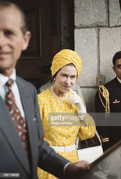 Queen Elizabeth II and Prince Philip during their state visit to Mexico, 1975.