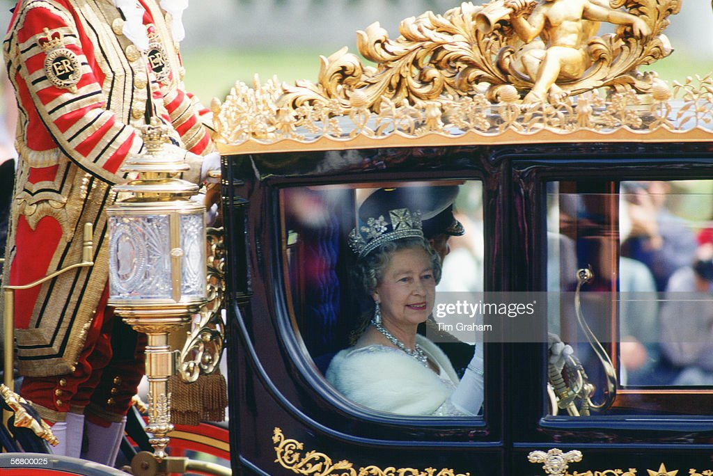 Queen & Philip State Opening Procession : News Photo