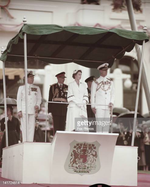 Queen Elizabeth II and Prince Philip in Canberra during their visit to Australia 1954