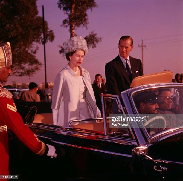 Queen Elizabeth II and Prince Philip in Delhi during a state visit to India, 21st January 1961.