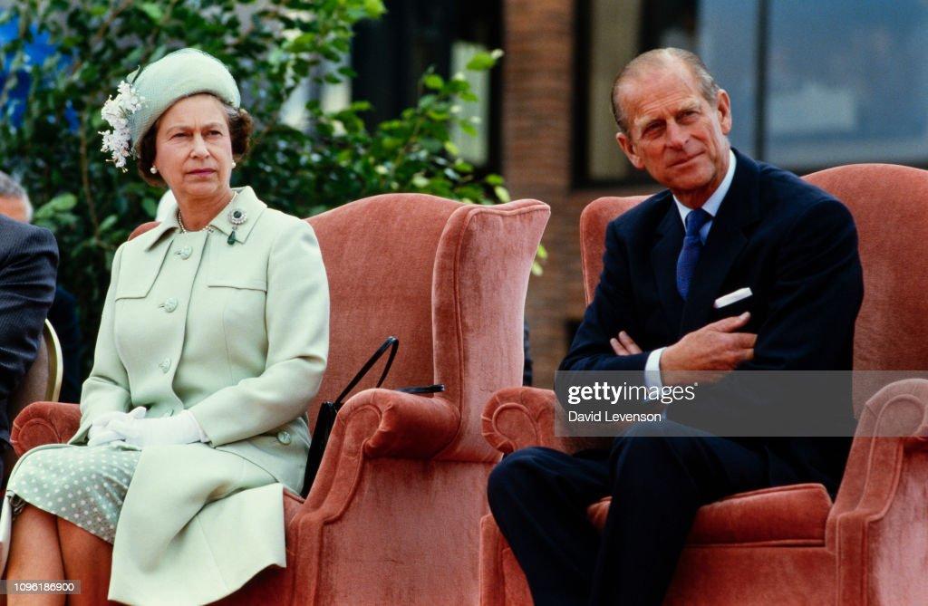 Queen Elizabeth II and Prince Philip in Canada : News Photo
