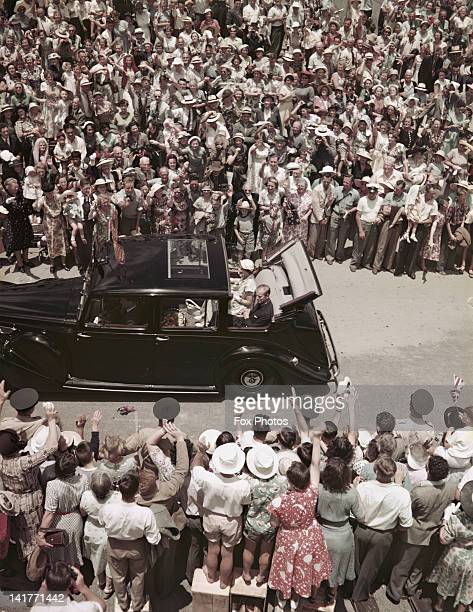 Queen Elizabeth II and Prince Philip leave Warkworth in Auckland for a private picnic lunch on Puhoi Beach during a Commonwealth Visit to New Zealand...