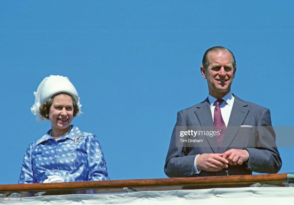 Queen & Philip On Britannia : News Photo