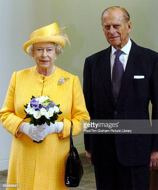Queen Elizabeth II and Prince Philip, the Duke of Edinburgh attend the opening of the new GBP350 million headquarters of the Royal Bank of Scotland...