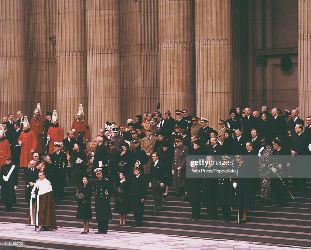 Funeral Of Winston Churchill : News Photo