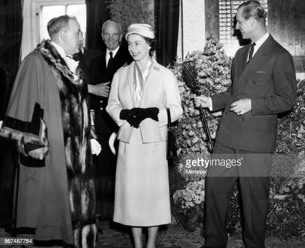 Queen Elizabeth II and Prince Philip visit Oldbury, 23rd April 1957.