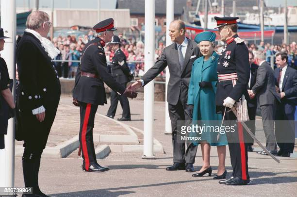 Queen Elizabeth II and Prince Philip visiting Hartlepool Marina 18th May 1993