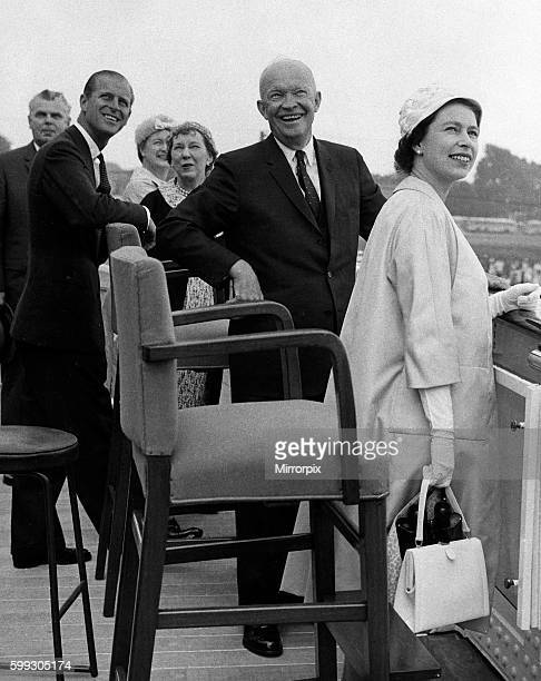 Queen Elizabeth II and Prince Philip with President and Mrs Eisenhower during their tour of Canada and the USA