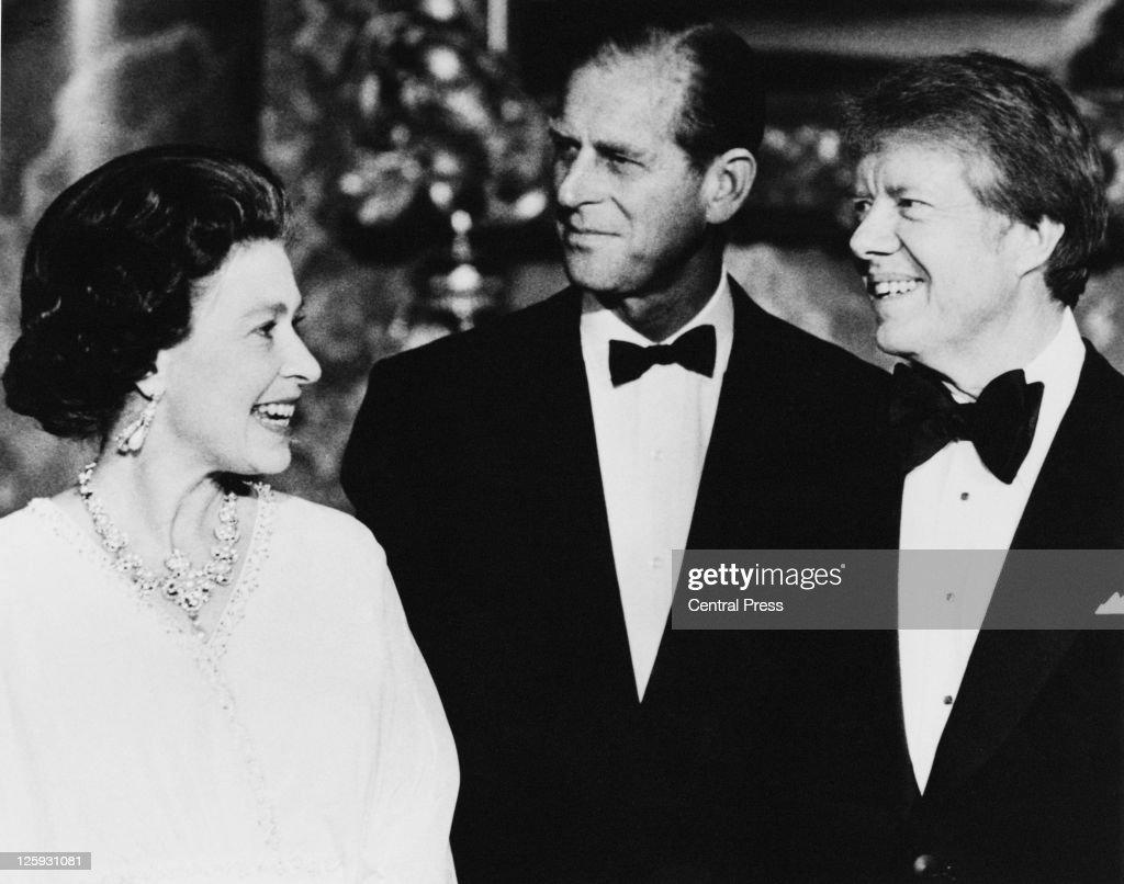 Carter With Royal Couple : News Photo