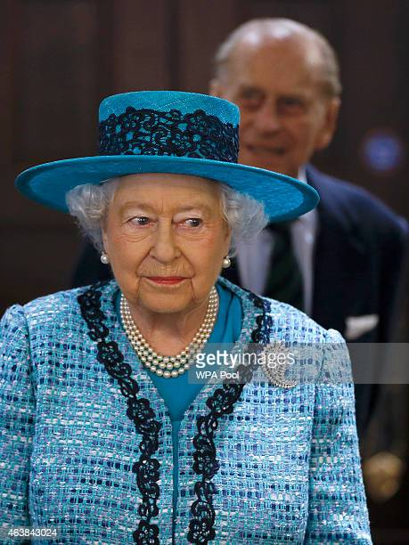 Queen Elizabeth II and Prince PhilipDuke of Edinburgh during a visit to reopen Canada House on Trafalgar Square following an extensive programme of...