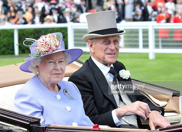 Queen Elizabeth II and Prince Phillip attend Royal Ascot Ladies Day on June 17, 2010 in Ascot, England.
