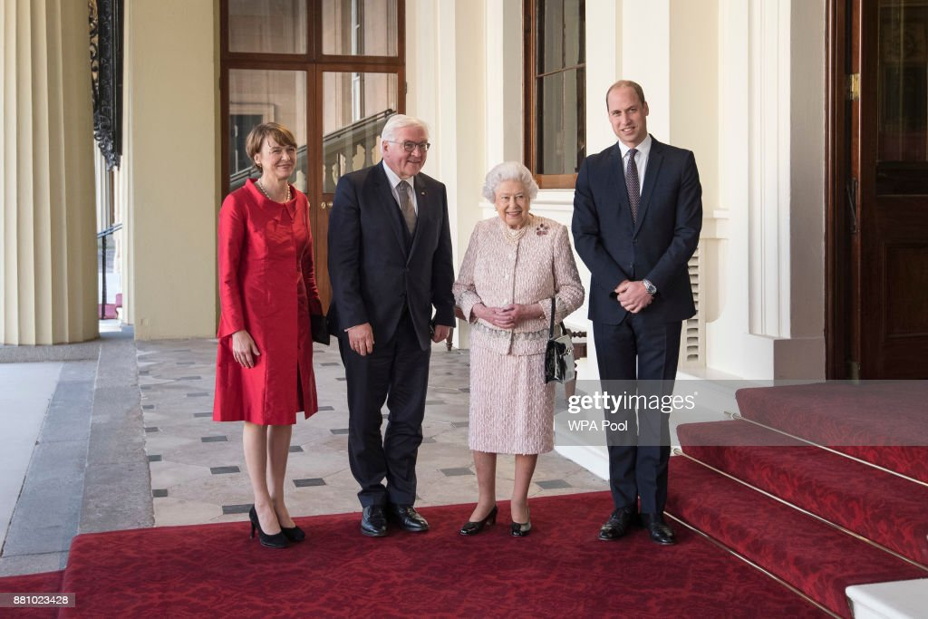 Queen Elizabeth II Receives German President Germany Frank-Walter Steinmeier At Buckingham Palace