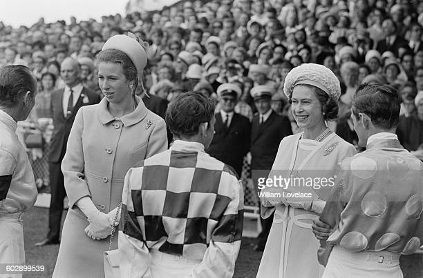 Queen Elizabeth II and Princess Anne at Randwick Racecourse in Sydney at the start of their royal tour of Australia April 1970