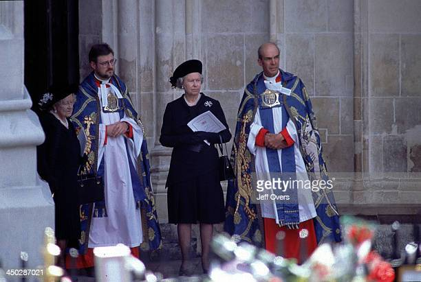 Queen Elizabeth II and Queen Mother at Funeral of Diana Princess of Wales At Westminster Abbey awaiting the arrival of the coffin of Diana Princess...