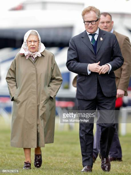 Queen Elizabeth II and Simon BrooksWard attend day 3 of the Royal Windsor Horse Show in Home Park on May 12 2017 in Windsor England
