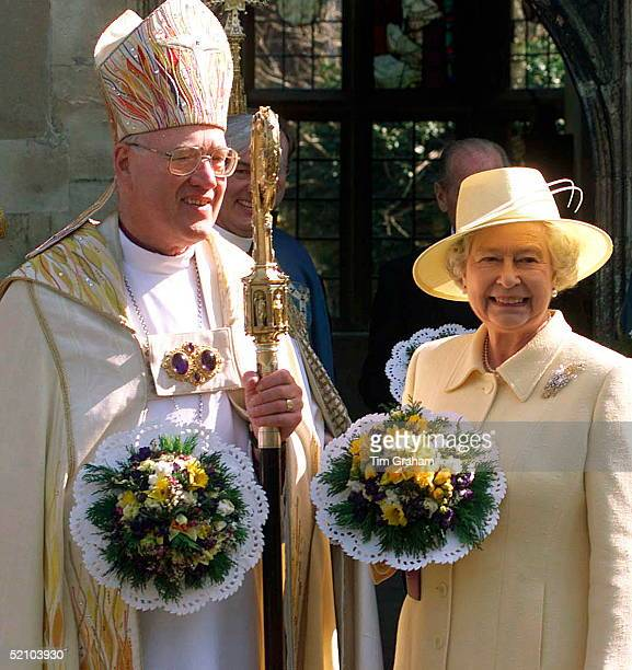 Queen Elizabeth II And The Archbishop Of Canterbury, Doctor George Carey At Royal Maundy Service.