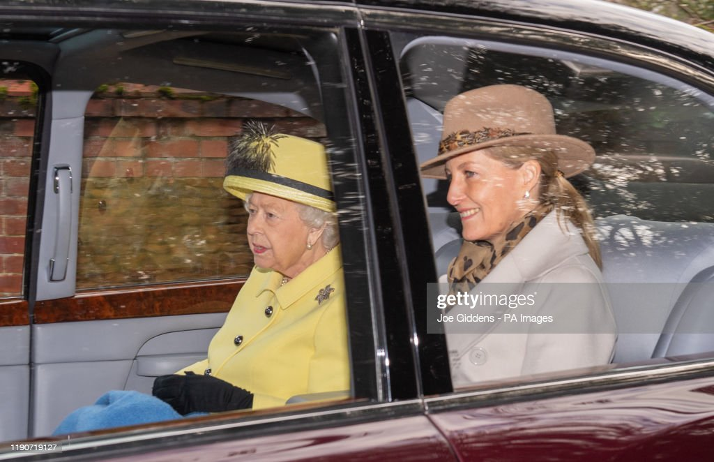 Royals attend Church service : News Photo